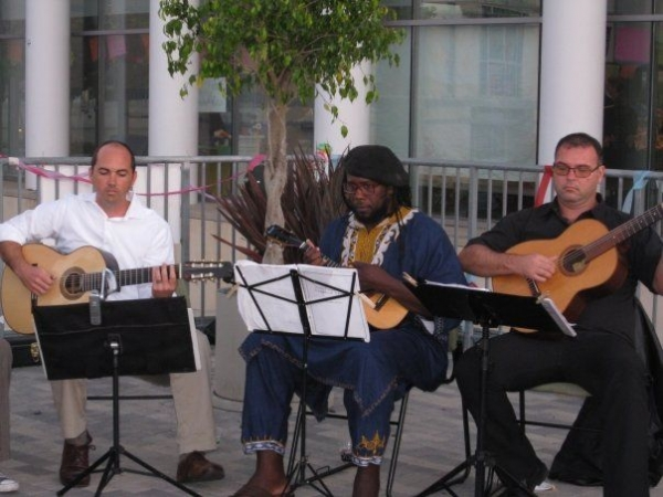 Playing cavaquinho with a Brazilian choro band