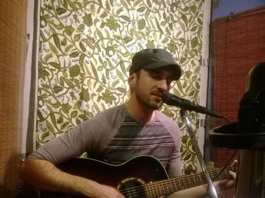 "Playing a gig at ""Tiles De Santa Fe"""