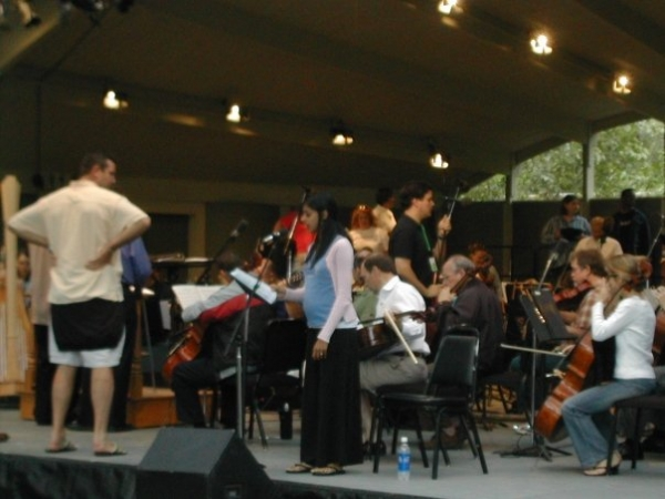 Performing as a soloist with the Atlanta Symphony Orchestra at the Ojai Festival in California.