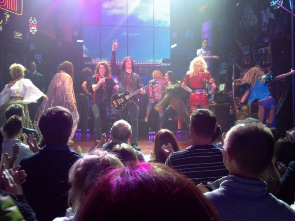 Performing in NYC with Rock of Ages on Broadway.