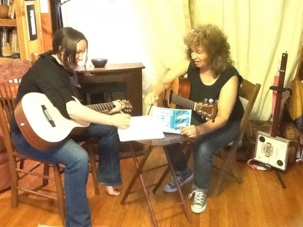 Songwriting lesson.