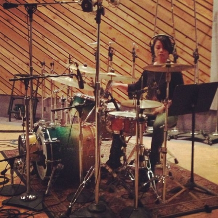 Recording for Matthew Jude Band EP at Entourage Studios in North Hollywood.