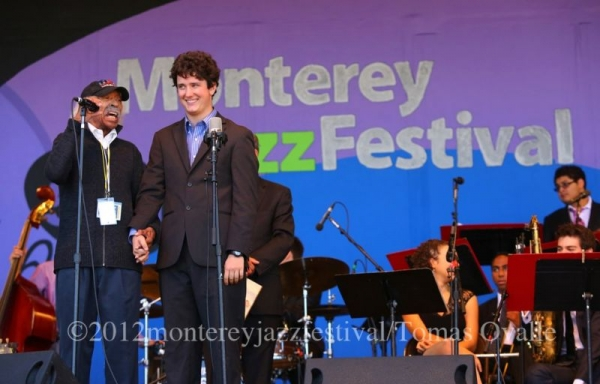 With Gerald Wilson at the 2012 Monterey Jazz Festival