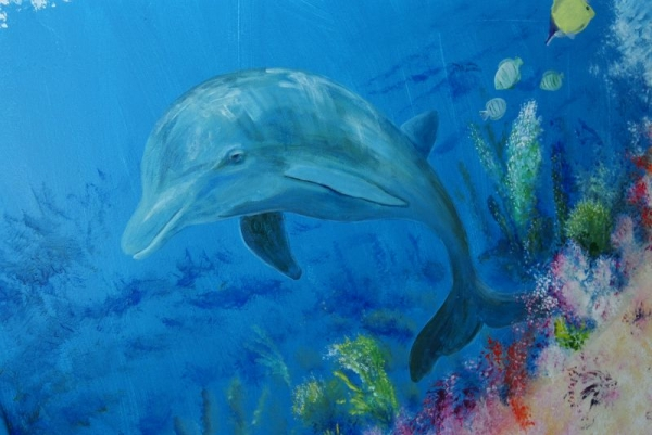 Part of a 12' wide mural