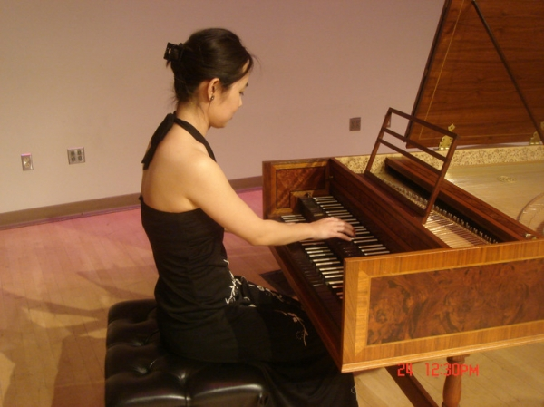 Played the clavichord in a baroque concert.