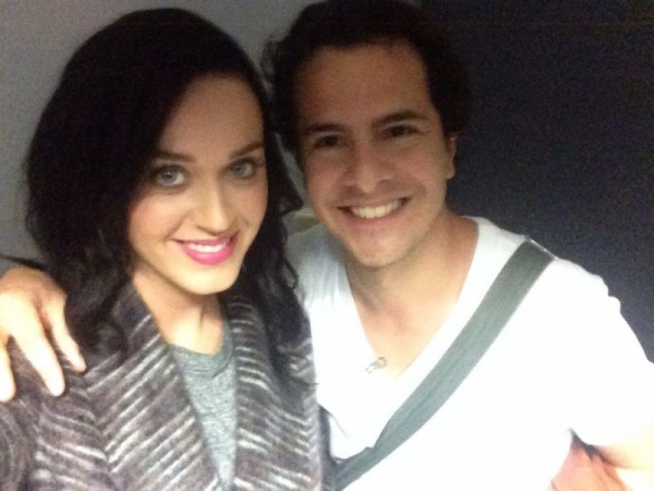 Taking a selfie with Katy Perry backstage on Late Night with Jimmy Fallon.