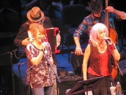 Me with Emmylou Harris on A Prairie Home Companion 11/2008