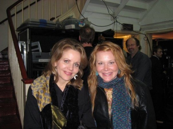 Me with Renee Fleming at Town Hall Theater after Performing together on A Prairie Home Companion 12/2008
