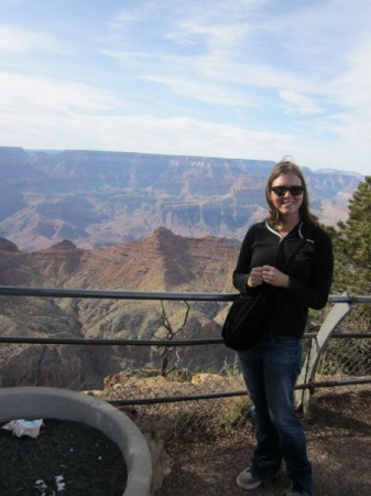 At the Grand Canyon, spring break during my Master's program.