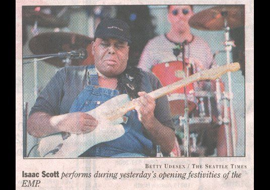 Playing with Seattle Legend Isaac Scott at the Grand Opening of The Experience Music Project - June 2000