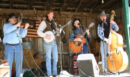 Performance with Western music group The Wranglers.