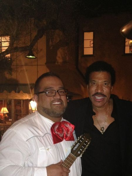 here with Lionel Richie...  a performance towards the end of 2013