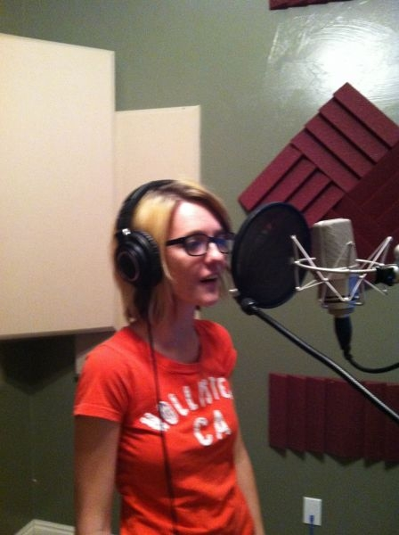 Recording session with Kylie, Winner of Southern Utah Performing Arts Festival 2013