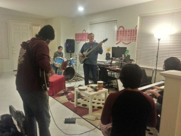 This is one of my Band Nights that I host for my adult students to meet each other and play some music.