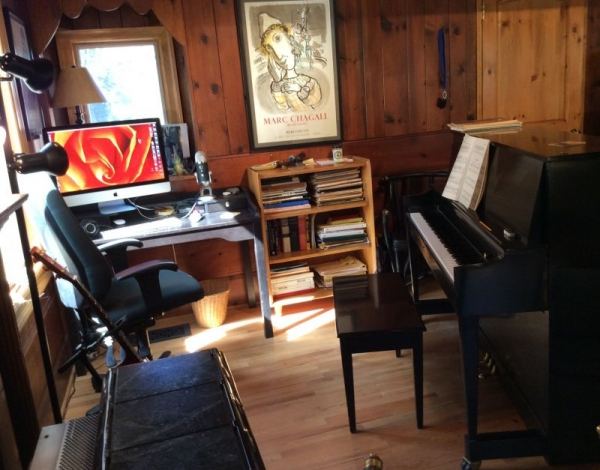 Here's a glimpse of my studio -