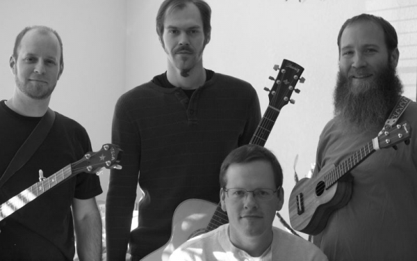 Most of our band photo of Mockingbird Blue sans our awesome bass, banjo and mandolin player, Mike D.