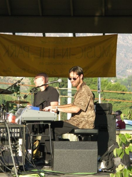 Barry performing with drummer Ty Dennis in the national Neil Diamond tribute band, Hot August Night, in La Canada, CA.