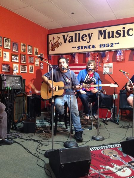 Playing at Valley Music in El Cajon