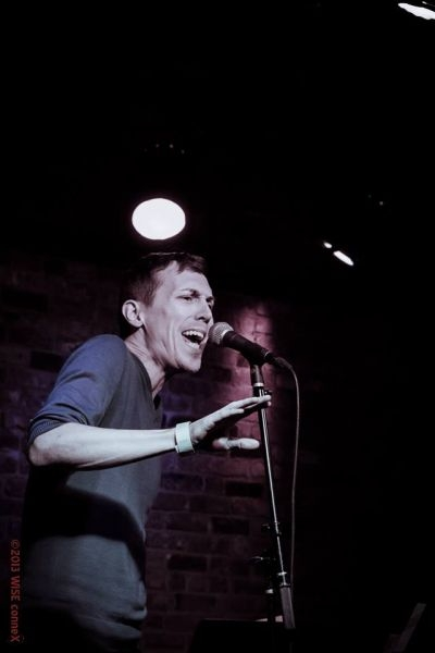 Singing at NYC's the Bitter End.