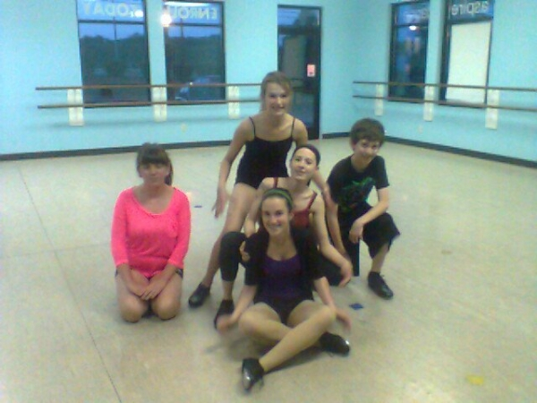 Surrounded by my beginner/intermediate tap students