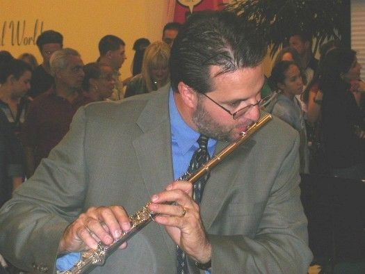 Playing a solo on El Pambiche Lento in Miami cir. 2002