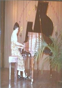 Taken at my recital---10 yrs. old..I was playing Aragonaise