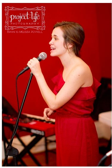 I love getting the chance to perform!  This is me at my sister-in-law's wedding.