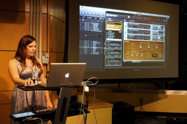 "Teaching a music software workshop for my ""day job."""