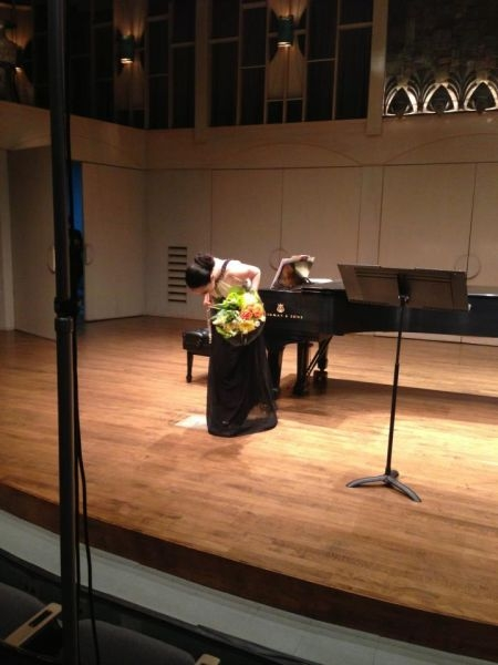 Master's recital at California State University, Northridge.