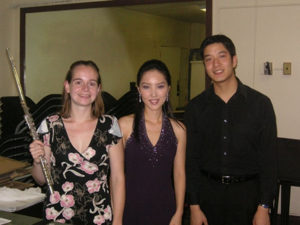 chamber recital with flute and clarinet