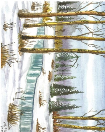 Snow Scene- Watercolor