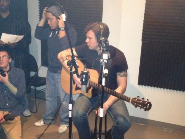 Teaching recording studio mic placement at AI, Chicago.