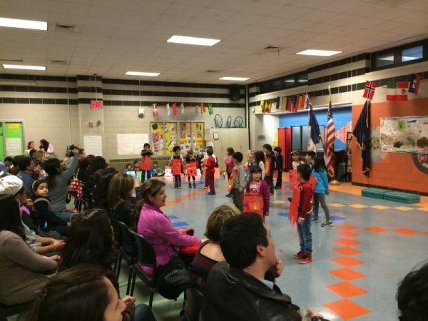 PS 222 in Queens, 1st grad bilingual production of Chicken Licken