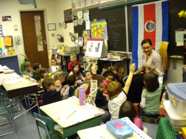 Teaching 1st graders about Celia Cruz and salsa dancing!