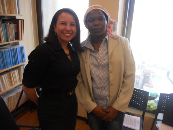 Myself with Hawa Salih, the 2012 recipient of the Department of State International Women of Courage Award.