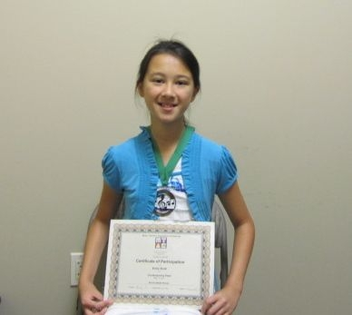 Emily Bush won Bronze Medal in the Contemporary Flare 2014 MTACSC Branch.