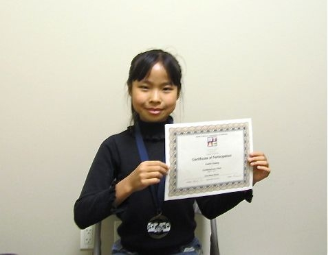 Xuelin H. won Gold Medal in the Contemporary Flare 2014 MTACSC Branch.
