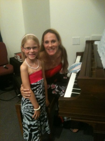 Mom had years of piano lessons, now her daughter is learning.