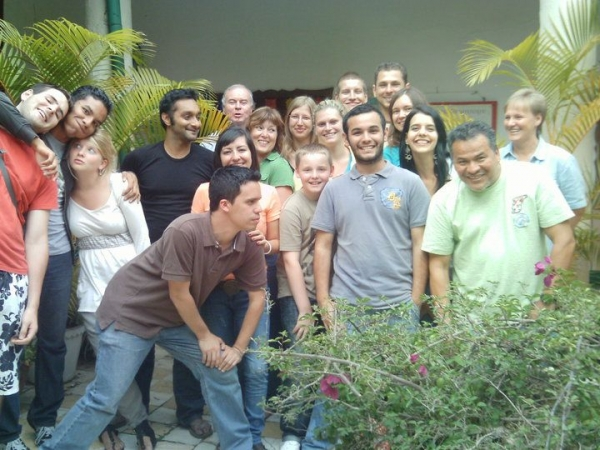 With my lovely group of Spanish students from Germany and my colleagues (2009)