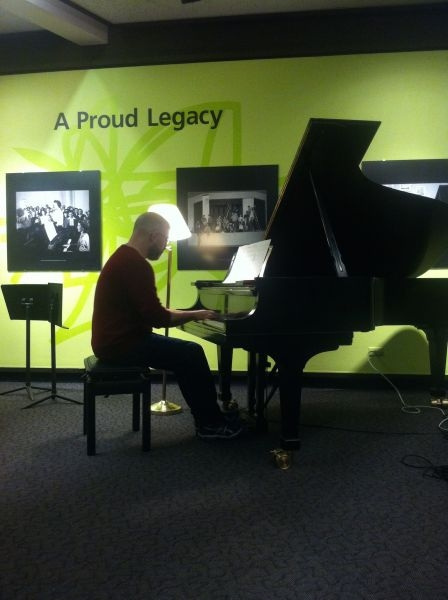 Performing a piece of mine at The Banff Centre (Alberta, Canada)