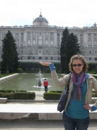Visiting the royal palace in Madrid