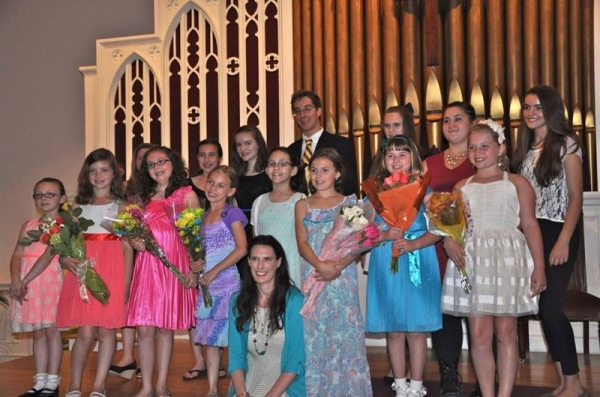 with a few of my students after a student recital