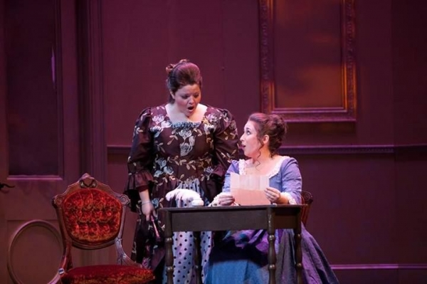I am on the left playing the role of the Countess in Mozart's The Marriage of Figaro at Belmont University.