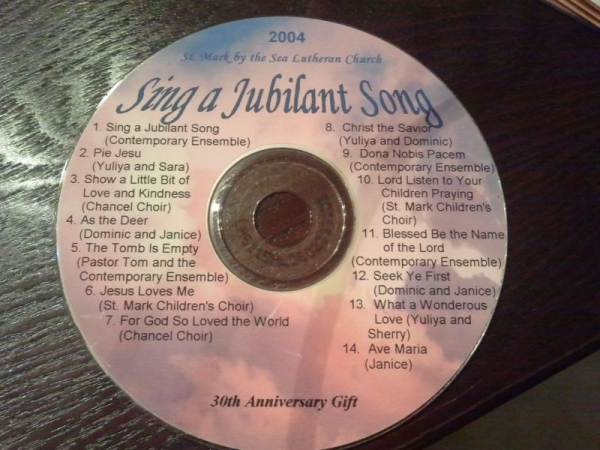 St. Mark Lutheran Church music record  performed  and directed by Julia with Praise Band, Senior Choir, Children's Choir