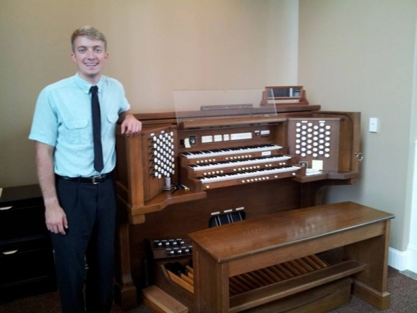 This picture was taken at Redeemer Presbyterian Church. I serve as the churches staff Organist.
