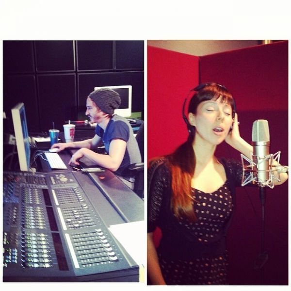 """Recording """"My Heart Will Sing"""" by A Loud Sound (the writing collective I am a part of) at Studio 301 at UTA"""