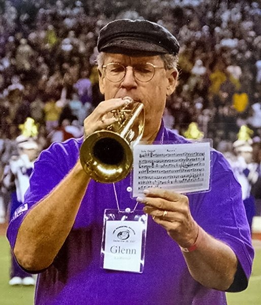 UW Husky Alumni Band member at Husky Stadium