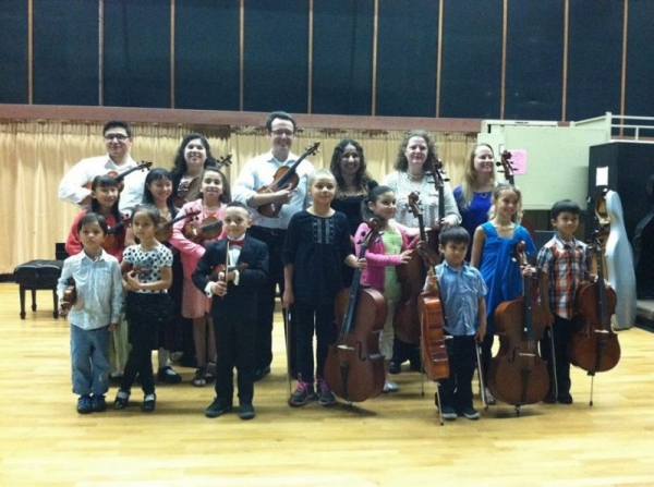 SDSU String Academy students and teachers from a recital in April, 2013.