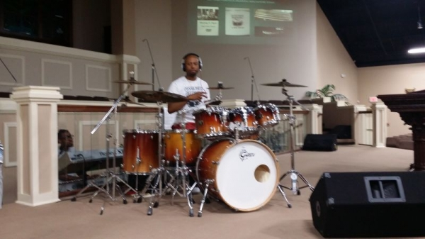 Murray S Piper picture taken at this years Drum Clinic