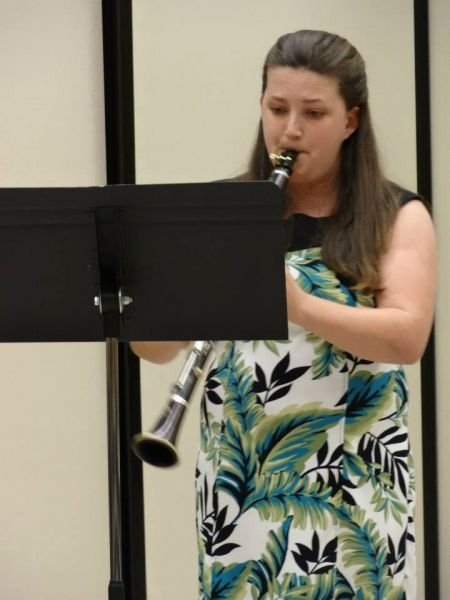 Performing in the San Jose State University Clarinet Studio concert